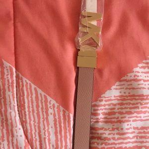 Reversal MK belt pink & brown